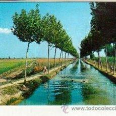 Postales: INTERESANTE POSTAL SIN CIRCULAR DEL DELTA DEL EBRO CANAL DE RIEGO CON GENTE BAÑANDOSE. Lote 37193162