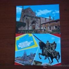Postales: POSTALES DE BURGOS ( AÑOS 1970 ) UNA CARTUJA DE MIRAFLORES Y OTRA BELLEZAS DE LA CIUDAD. Lote 37983232