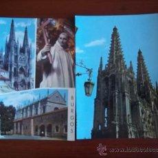 Postales: POSTALES DE BURGOS ( AÑOS 1970 ) CATEDRAL - SAN BRUNO Y CARTUJA DE MIRAFLORES. Lote 37983380
