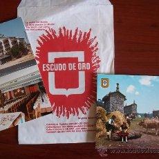 Postales: POSTAL- MENU DE HOTEL J. ENRIMARY DE SANABRIA - 1 SOBRE ESCUDO DE ORO - GALICIA. Lote 38903382