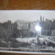 Postales: FOTO-POSTAL DE LA LONJA Y PASEO ISABEL II-BARCELONA. Nº152. ¿1952?. Lote 39558470
