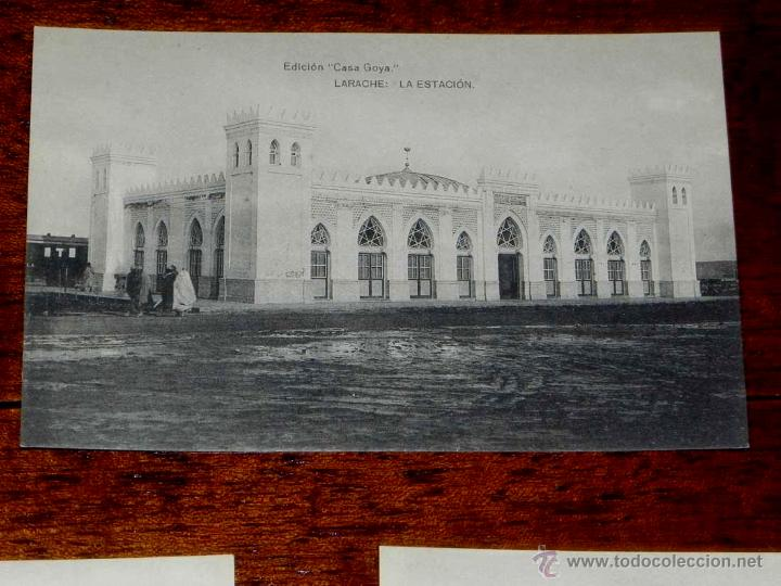 ANTIGUA POSTAL - PROTECTORADO ESPAÑOL EN MARRUECOS - LARACHE - LA ESTACION - EDICION CASA GOYA - HAU (Postales - España - Sin Clasificar Moderna (desde 1.940))