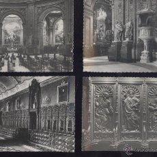 Postales: MADRID. IGLESIA DE SAN FRANCISCO. INTERIOR. 4 POSTALES BLANCO Y NEGRO, C. 1960. Lote 41070851