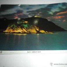 Postales: SAN SEBASTIAN ISLA DE SANTA CLARA MONTE IGUELDO, CIRCULADA AÑOS 60. Lote 41678992