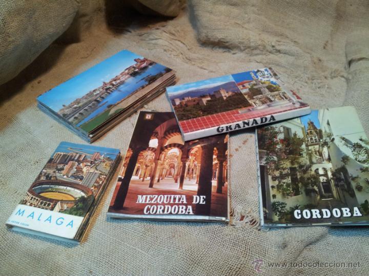 LOTE POSTALES LIBRILLOS ACORDEON .GRANADA .MALAGA, CORDOBA (Postales - España - Sin Clasificar Moderna (desde 1.940))