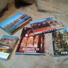 Postales: LOTE POSTALES LIBRILLOS ACORDEON .GRANADA .MALAGA, CORDOBA. Lote 41802250