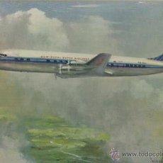 Postales: TARJETA POSTAL. ESPAÑA. DOUGLAS DC-7C.. Lote 42048043