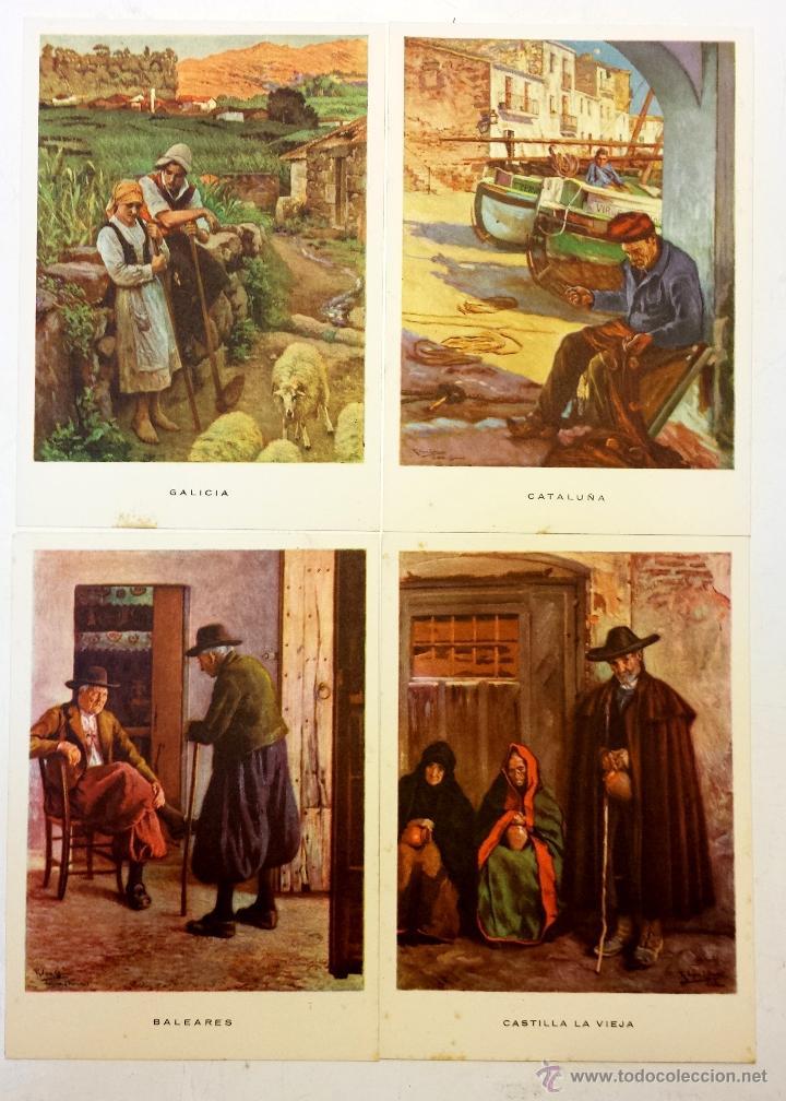 Postales: 15 TARJETA POSTAL LAS REGIONES ESPAÑOLAS CON SU SOBRE ORIGINAL MAS 4 POSTALES DE OBSEQUIO. - Foto 6 - 43877740