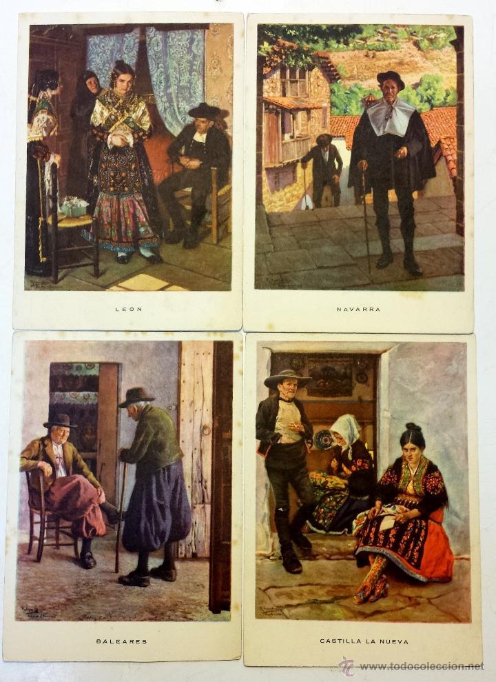 Postales: 15 TARJETA POSTAL LAS REGIONES ESPAÑOLAS CON SU SOBRE ORIGINAL MAS 4 POSTALES DE OBSEQUIO. - Foto 8 - 43877740