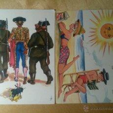Postales: POSTALES TÓPICAS DE LA ESPAÑA DE LOS 60S. Lote 46530782