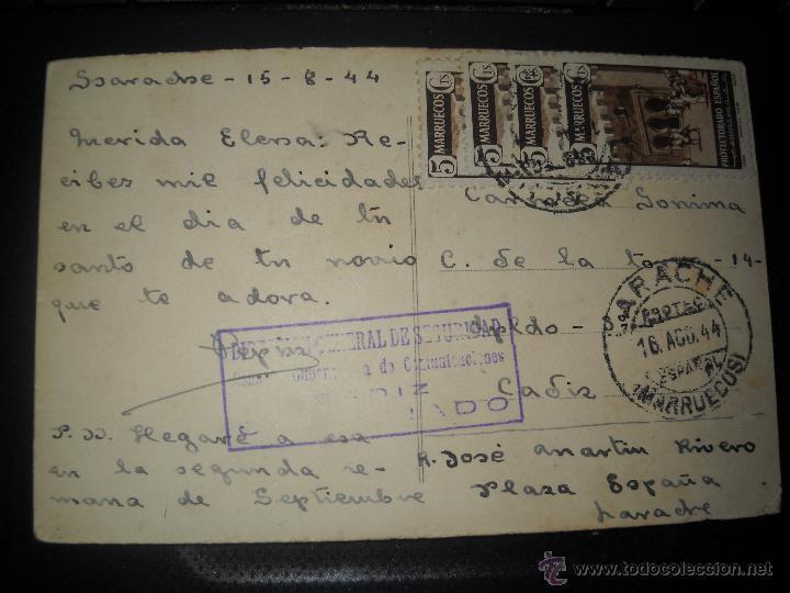 Postales: POSTAL LARACHE IGLESIA NUESTRA SEÑORA DEL PILAR PROTECTORADO ESPAÑOL.CIRCULADA. - Foto 2 - 46602166