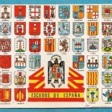 Postales: ESCUDOS PROVINCIAS ESPAÑOLAS - CON ESCDO ESPAÑA / AGUILA - ED. PEREGRINO / FIR - NUEVA - AÑO 1973. Lote 47928363