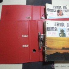 Postales: !ESPAÑA QUÉ HERMOSA ERES¡ MATEU. BARCELONA 1966 52 FASCICULOS ARCHIVADORES EPOCA FRANCO BURGOS LEON. Lote 48219705