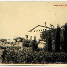 Postales: POSTAL FOTOGRAFICA COLEGIO CASA AMAT DE LA MONTAÑA 1945. Lote 50206086