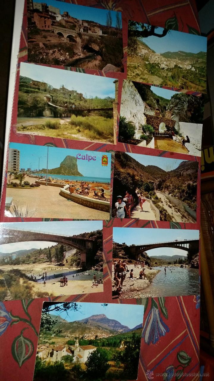 LOTE 9 POSTALES PUEBLOS COMUNIDAD VALENCIANA AÑOS 80 (Postales - España - Sin Clasificar Moderna (desde 1.940))