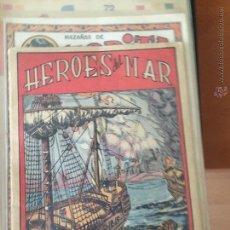 Postales: HEROES DEL MAR MARAVILLAS HISTORIA DE LA MARINA DE GUERRA ESPAÑOLA ALB 30 BUEN ESTADO. Lote 50946583