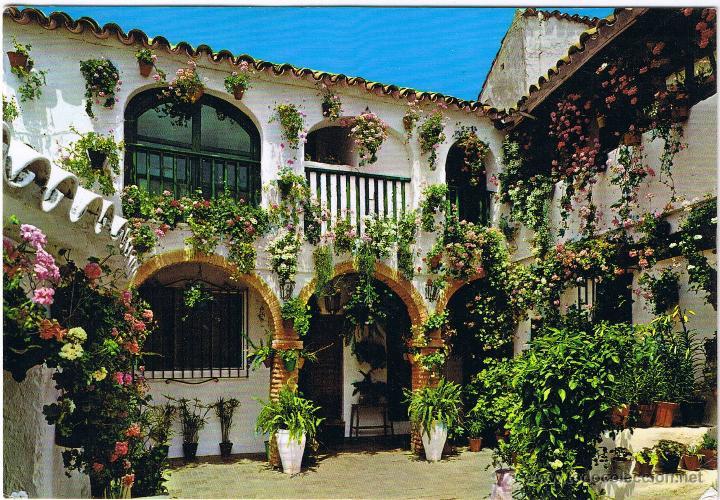 Espa a tipica patio andaluz comprar otras postales de - Fotos patio andaluz ...