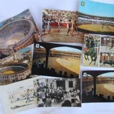 Postales: LOTE DE 9 POSTALES TEMAS TAURINOS PLAZA TOROS RONDA, LA MALAGUETA MALAGA, SAN FERMINES.... Lote 56187971