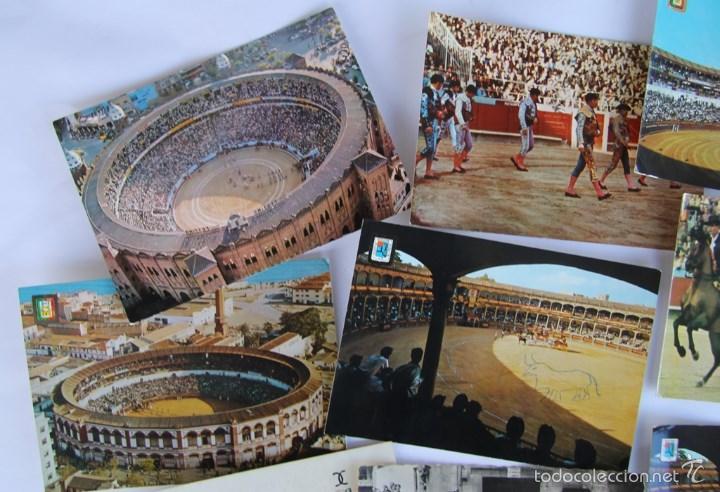 Postales: LOTE DE 9 POSTALES TEMAS TAURINOS PLAZA TOROS RONDA, LA MALAGUETA MALAGA, SAN FERMINES... - Foto 2 - 56187971