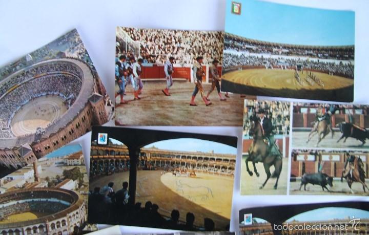 Postales: LOTE DE 9 POSTALES TEMAS TAURINOS PLAZA TOROS RONDA, LA MALAGUETA MALAGA, SAN FERMINES... - Foto 3 - 56187971