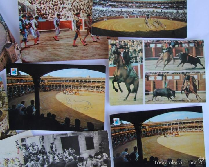 Postales: LOTE DE 9 POSTALES TEMAS TAURINOS PLAZA TOROS RONDA, LA MALAGUETA MALAGA, SAN FERMINES... - Foto 4 - 56187971