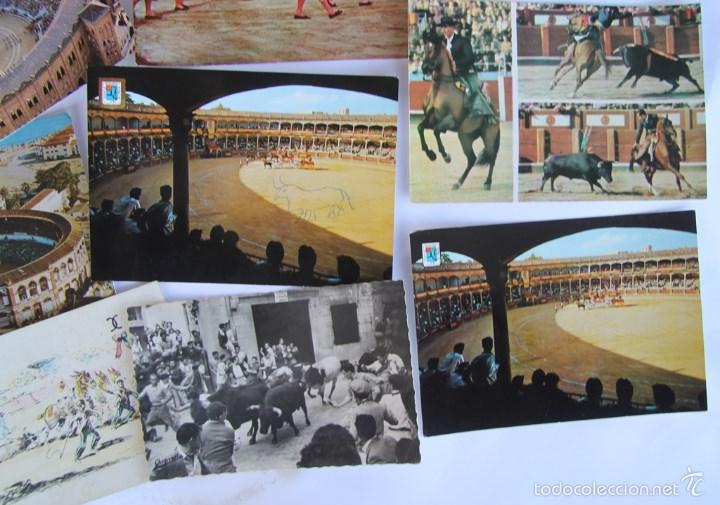 Postales: LOTE DE 9 POSTALES TEMAS TAURINOS PLAZA TOROS RONDA, LA MALAGUETA MALAGA, SAN FERMINES... - Foto 5 - 56187971