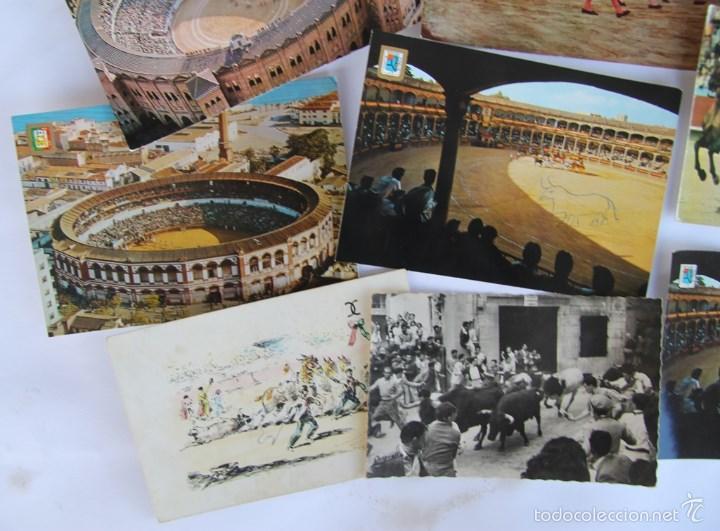 Postales: LOTE DE 9 POSTALES TEMAS TAURINOS PLAZA TOROS RONDA, LA MALAGUETA MALAGA, SAN FERMINES... - Foto 6 - 56187971
