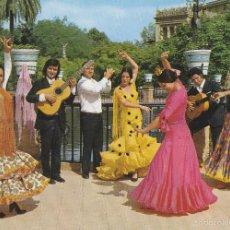 Postales: ESPAÑA TIPICA - ESTAMPA TIPICA - FOLKLORE - BAILE FLAMENCO ANDALUCIA - Nº 1919 - ED.SAVIR - AÑO 1971. Lote 56265782