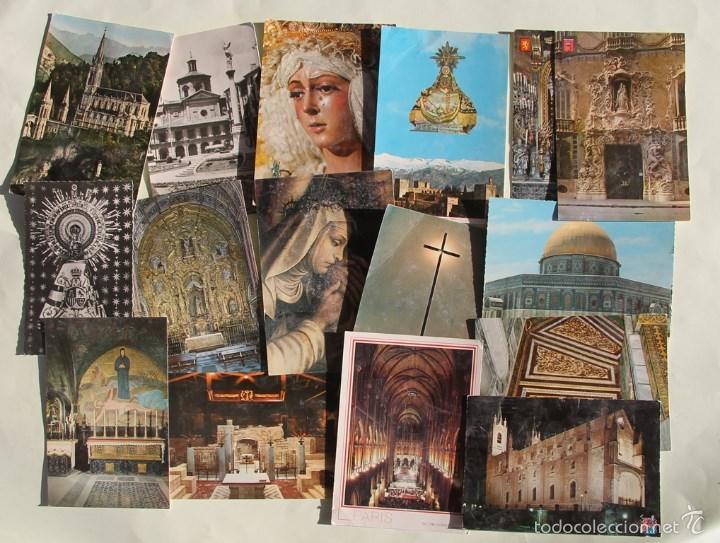 LOTE DE 16 ANTIGUAS TARJETAS POSTALES DE FACHADAS MONUMENTOS IGLESIAS VER DESCRIPCION (Postales - España - Sin Clasificar Moderna (desde 1.940))