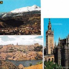 Postales: 6 TARJETAS POSTALES JACA, TOLEDO, SEVILLA, PALMA, SAGUNTO GUADALEST 5 SIN CIRCULAR. Lote 58429436