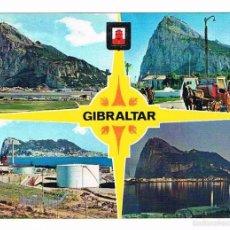 Postales: POSTAL ANTIGUA GIBRALTAR SIN CIRCULAR PEÑON DE GIBRALTAR DIVERSOS ASPECTOS. Lote 58677730