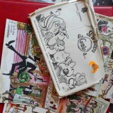 Postales: 12 POSTALES LOTERÍA NACIONAL AÑO 1971 ECHA POR MINGOTE. Lote 62356138