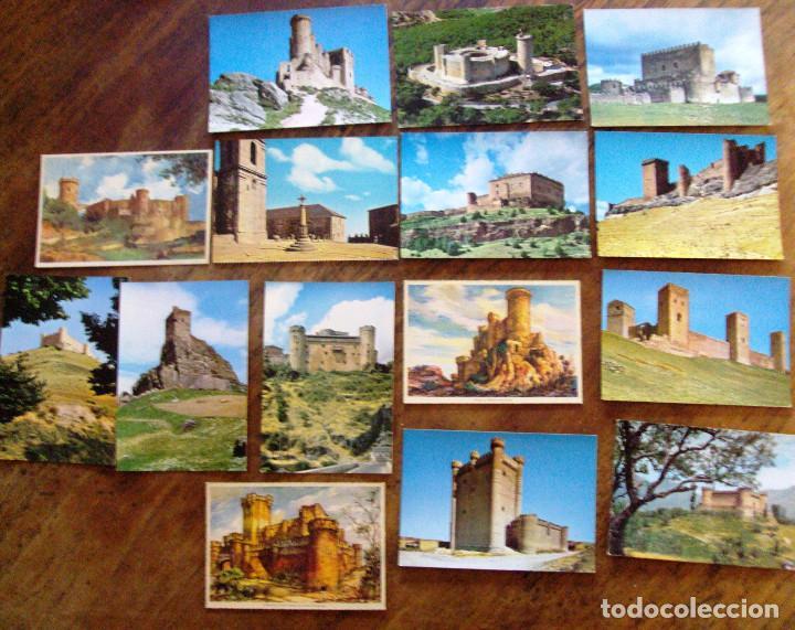 LOTE POSTALES DE CASTILLOS DE ESPAÑA 15 ITEMS (Postales - España - Sin Clasificar Moderna (desde 1.940))