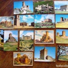 Postales: LOTE POSTALES DE CASTILLOS DE ESPAÑA 15 ITEMS. Lote 64492511
