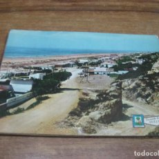 Cartes Postales: POSTAL ANTIGUA: EDIT. PERGAMINO. HUELVA. PLAYA DE MAZAGON. 1968. Lote 68254449