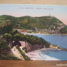 Postales: POSTAL ANTIGUA: GREGORIO G. GALARZA. SAN SEBASTIAN. MIRAMAR Y MONTE IGUELDO. . Lote 69062489
