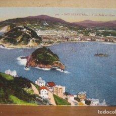 Postales: POSTAL ANTIGUA: GREGORIO G. GALARZA. SAN SEBASTIAN. VISTA DESDE EL MONTE IGUELDO. Lote 69063113