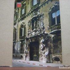 Postales: POSTAL ANTIGUA: SUBIRATS CASANOVAS.- VALENCIA. PALACIO DEL MARQUES DE DOS AGUAS, FACHADA. 1968. Lote 69247873