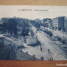 postal antigua: zaragoza.- paseo de sagasta