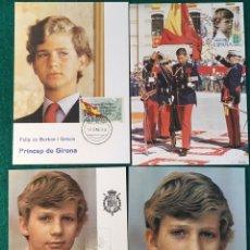 Postales: 8 POSTALES PRINCIPE FELIPE. VARIOS MOTIVOS.. Lote 75898947