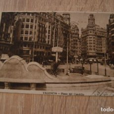 Postales: POSTAL ANTIGUA * VALENCIA * PLAZA DEL CAUDILLO * CIRCULADA Y FECHADA 1945 * P-5. Lote 77471253