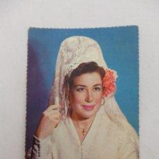 Postales: POSTAL MUJER CON MANTILLA ESPAÑOLA BLANCA SERIE Nº 3036. Lote 80229769
