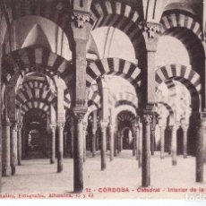 Postales: INTERIOR DE LA MEZQUITA ( CORDOBA) FOTO SEÑAN Y GONZALO Nº 72. Lote 82482028