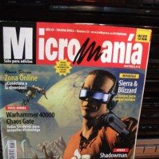 Postales: MICRO MANIA NUMERO 52 AÑO XV SIN CD. Lote 83163084