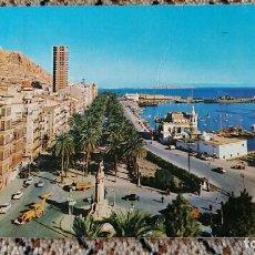 Postales: TARJETA POSTAL, POSTAL. ALICANTE. VISTA PARCIAL DEL PUERTO Y EXPLANADA DE ESPAÑA. Lote 84016588