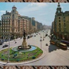 Postales: TARJETA POSTAL, POSTAL. ZARAGOZA. PLAZA DE ESPAÑA Y AVENIDA DE LA INDEPENDENCIA. Lote 84018104