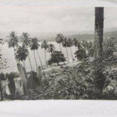 Postales: POSTAL SANTA ISABEL FERNANDO POO, BAHIA DE SAN CARLOS, FOTOS HERMINIO 1957. Lote 89290300