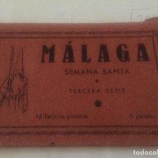 Postales: BLOCK 18 POSTALES SEMANA SANTA MALAGA DÉCADA DE LO AÑOS 40. Lote 90686885