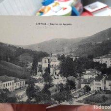 Postales: LIMPIAS, CANTABRIA, BARRIO DE RUCOBA, SIN EDITORIAL NI AÑO.. Lote 91635595