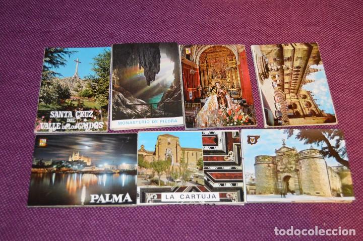 LOTE 7 LIBRITOS DE POSTALES - GRANADA, AVILA, TOLEDO, S COMPOSTELA Y MAS - SIN CIRCULAR - HAZ OFERTA (Postales - España - Sin Clasificar Moderna (desde 1.940))